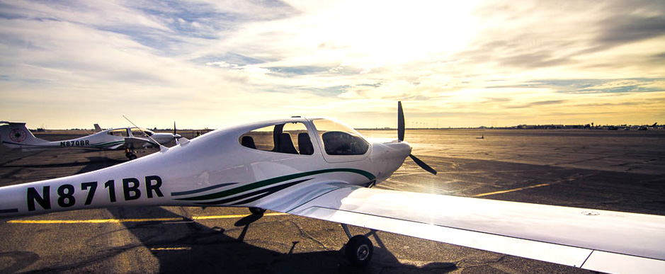 The Diamond DA40 trainer aircraft